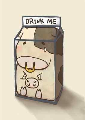 可爱的卡通奶牛手