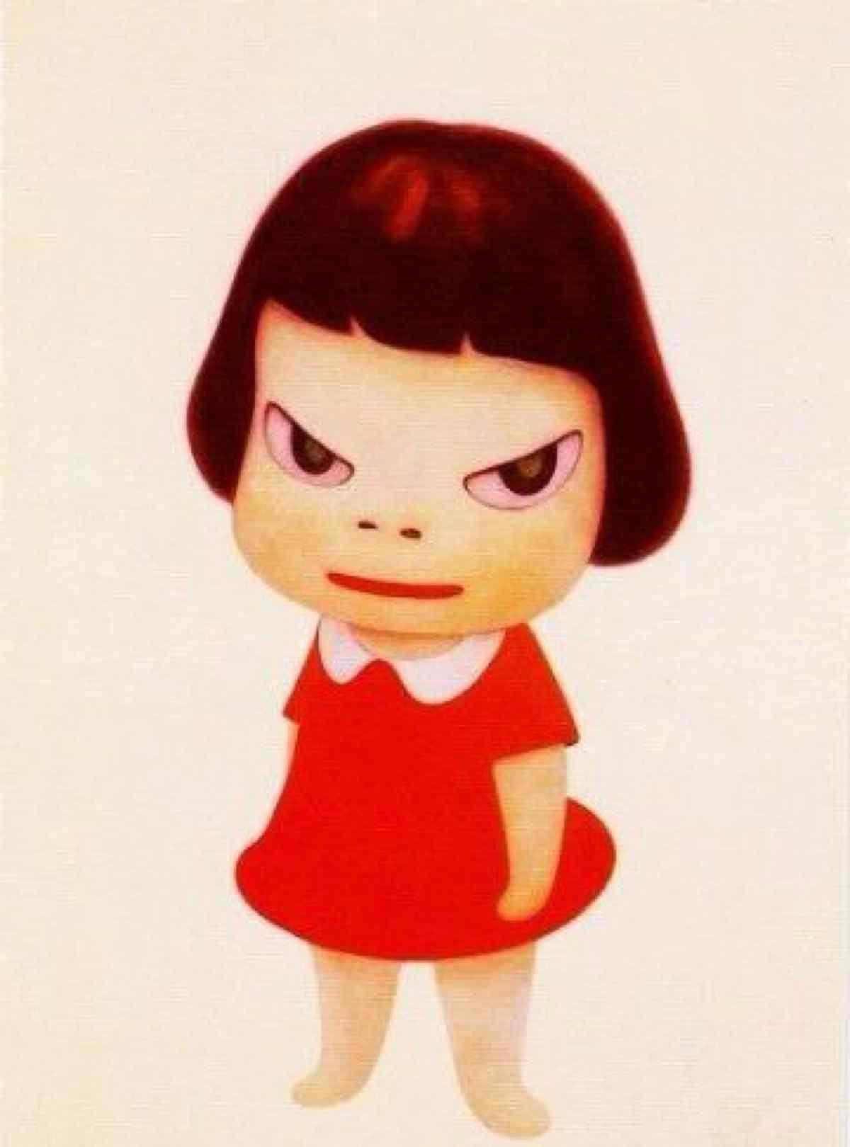 奈良美智手绘大头娃娃桌面壁纸