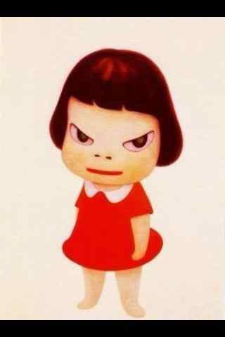 奈良美智手绘大头