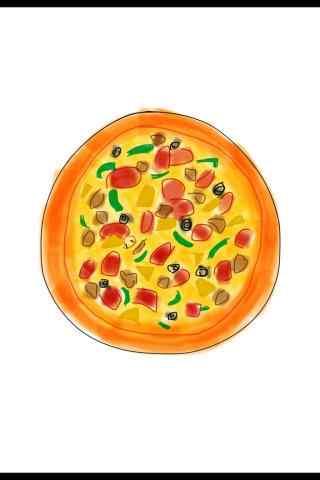 蔬菜披萨卡通图片手机壁纸