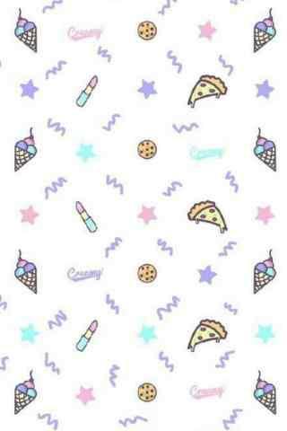 小清新可爱的披萨图片手机壁纸