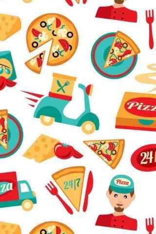 创意自制可爱的披萨图片手机壁纸