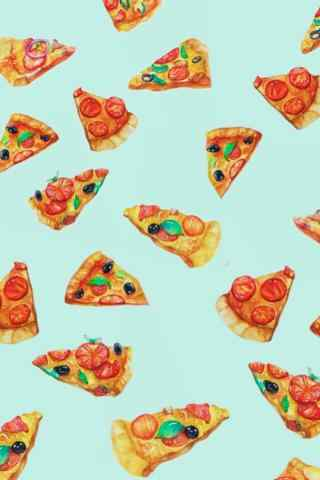 唯美小清新的披萨图片高清手机壁纸
