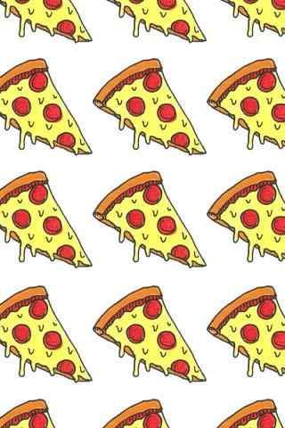 美味的披萨可爱图片手机壁纸