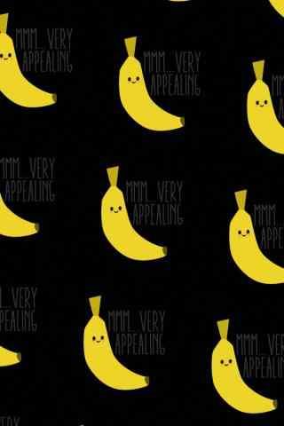 炫酷黑色背景香蕉