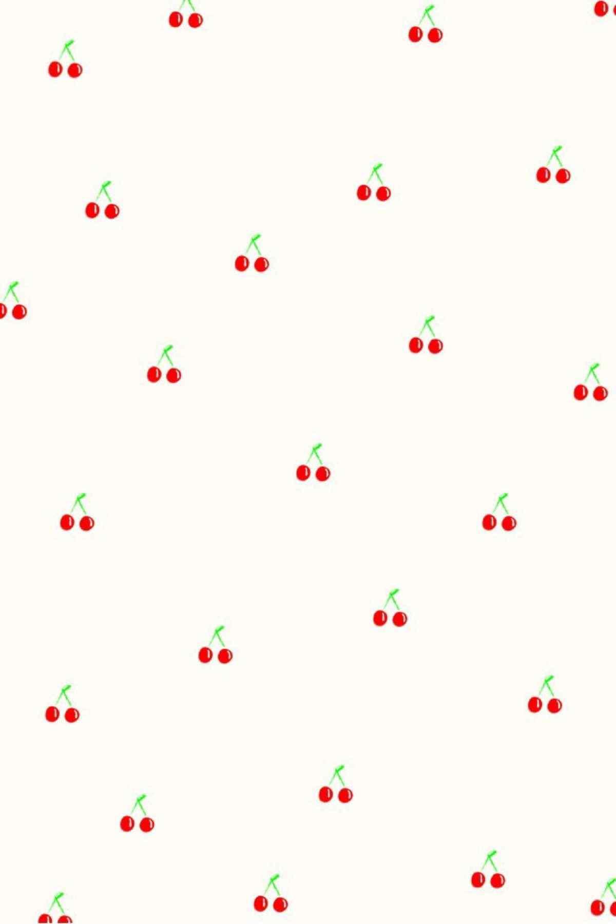 粉色小樱桃图片平铺手机壁纸