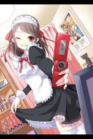 女仆装—妹抖可爱少女模样手机壁纸