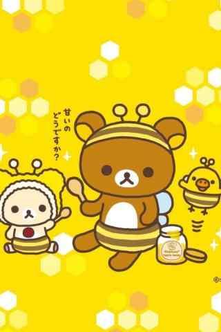 可爱卡通轻松熊手