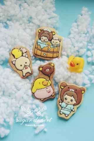简单可爱的轻松熊饼干手机壁纸