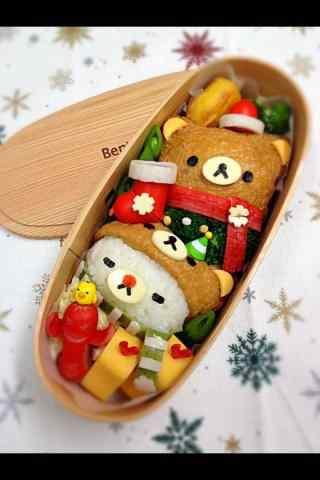 可爱的轻松熊便当盒手机壁纸