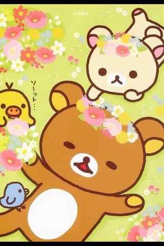 带着花环的轻松熊