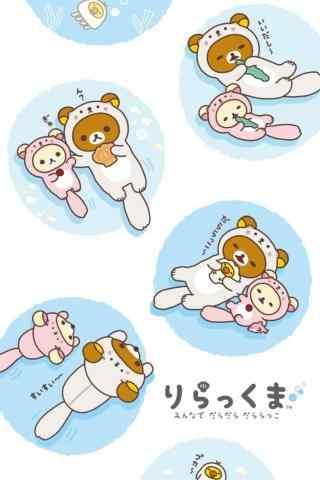 可爱的轻松熊手绘