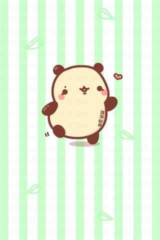 可爱Q版熊猫手绘