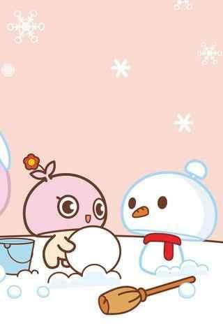 蘑菇滴滴堆雪人手