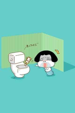 愚人节搞怪整蛊手机掉厕所手机壁纸