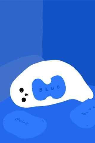 卡通懒洋洋的小海豹手机壁纸
