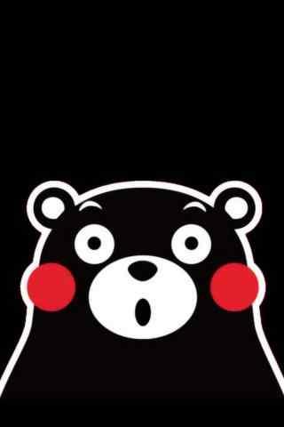 可爱熊本熊手机壁