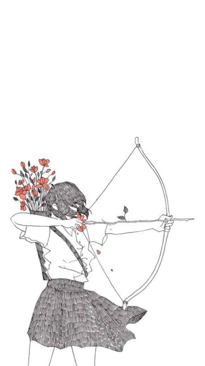 创意手绘情侣手机壁纸