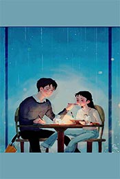 卡通手繪(hui)情侶(lv)溫馨an)寤 計pian)高清(qing)手機壁紙