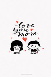 可愛卡通情侶(lv)愛情手機壁紙
