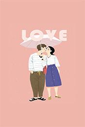 情侶(lv)浪漫溫馨情人節高清(qing)手機壁紙