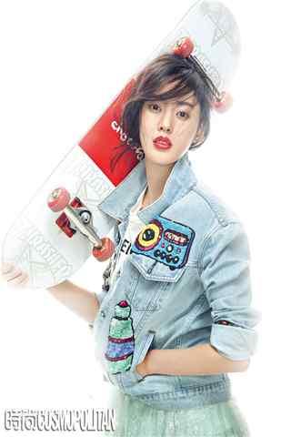 运动风格时尚杂志拍摄张天爱手机壁纸
