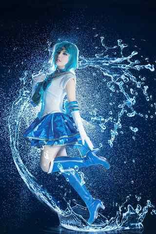 美少女战士之cosplay水野亚美手机壁纸