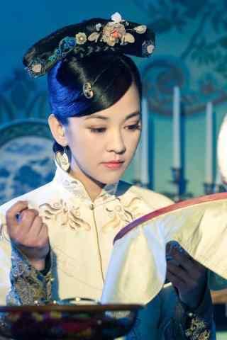 陈意涵唯美古装绣花剧照手机壁纸
