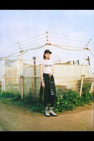 日本美女新垣结衣棒球服元气写真手机壁纸