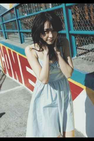 日本美女新垣结衣连衣裙唯美写真手机壁纸