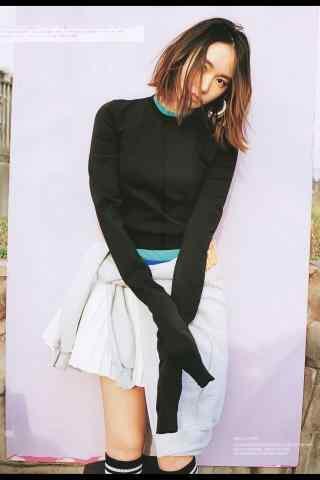 日本美女新垣结衣短裙清新写真手机壁纸