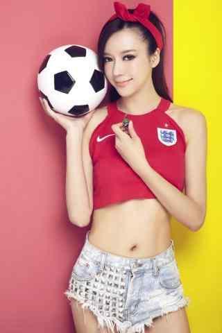 美丽的中国足球宝贝手机壁纸