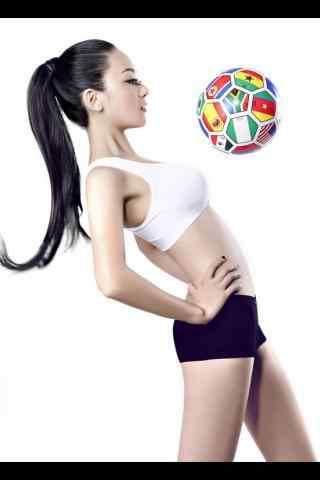 活力四射的足球宝贝手机壁纸