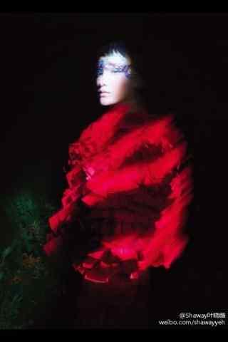 周迅红色妖艳手机壁纸