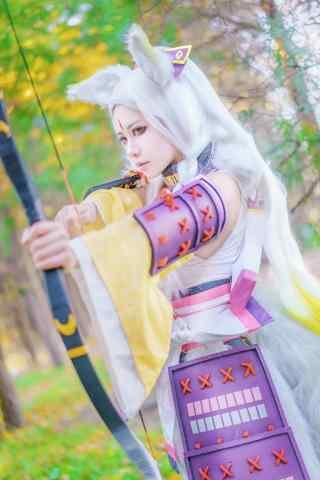 美女cosplay阴阳师白狼手机壁纸