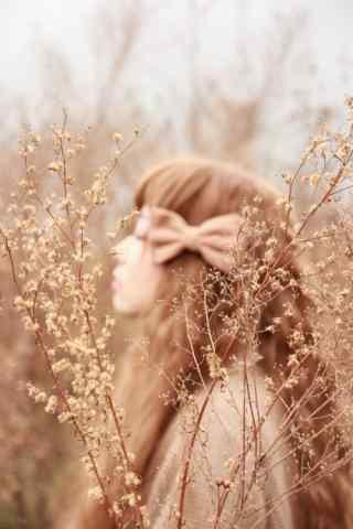 唯美小清新美女田园写真图片