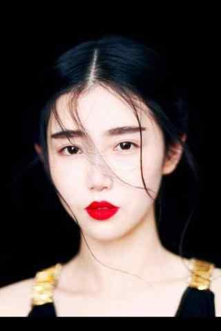 红唇文艺女青年图片手机壁纸