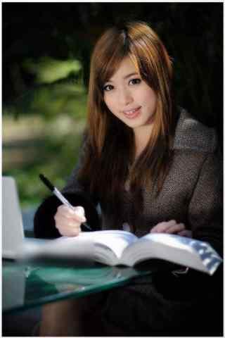知性美女看书手机壁纸