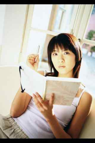 复古美女看书写真手机壁纸