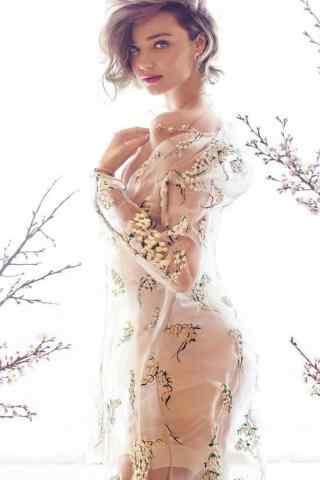 超模可儿唯美性感透视装写真