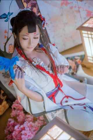 阴阳师花鸟卷唯美cosplay手机壁纸