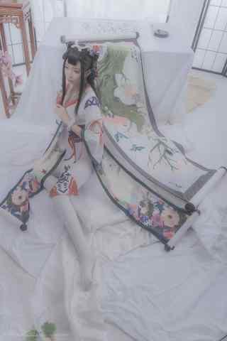 美丽的阴阳师花鸟卷cos手机壁纸