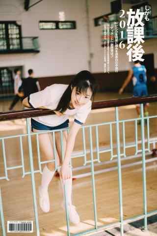 JK制服—体育课少女运动装手机壁纸