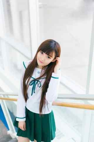 JK制服—校园清纯动人的美女手机壁纸