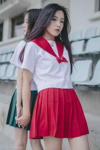 JK制服—美丽漂亮的小姐姐手机壁纸