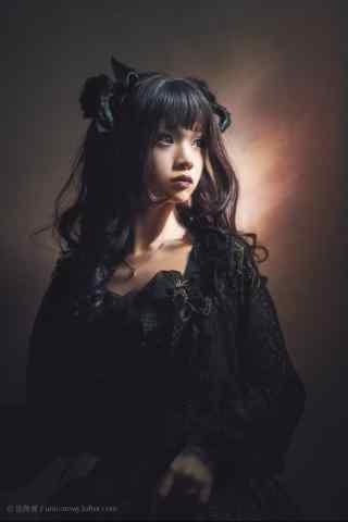 lolita洋装—暗黑系少女手机壁纸