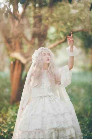 lolita洋装—小清新清纯美女手机壁纸