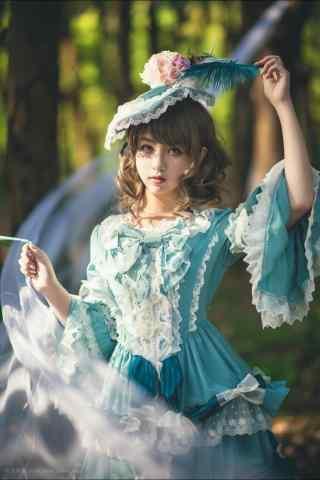lolita洋装—清纯可爱的少女手机壁纸