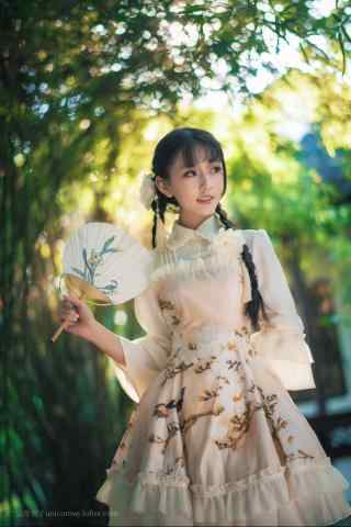 lolita洋装—中国风洋装可爱的少女手机壁纸