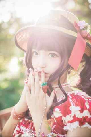 lolita洋装—阳光下软萌的少女手机壁纸